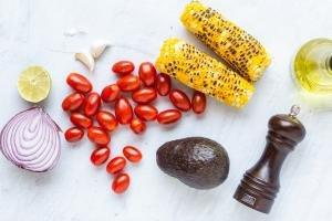 Corn Tomato Avocado Salad ingredients