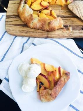 Free Form Peach Pie Recipe