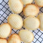 Madeleine Cookies on a cooling rack