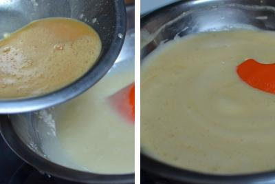 Two bowls with cake dough in the process