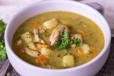 Split Pea Soup in a bowl