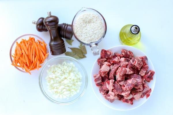 Ingredients for plov