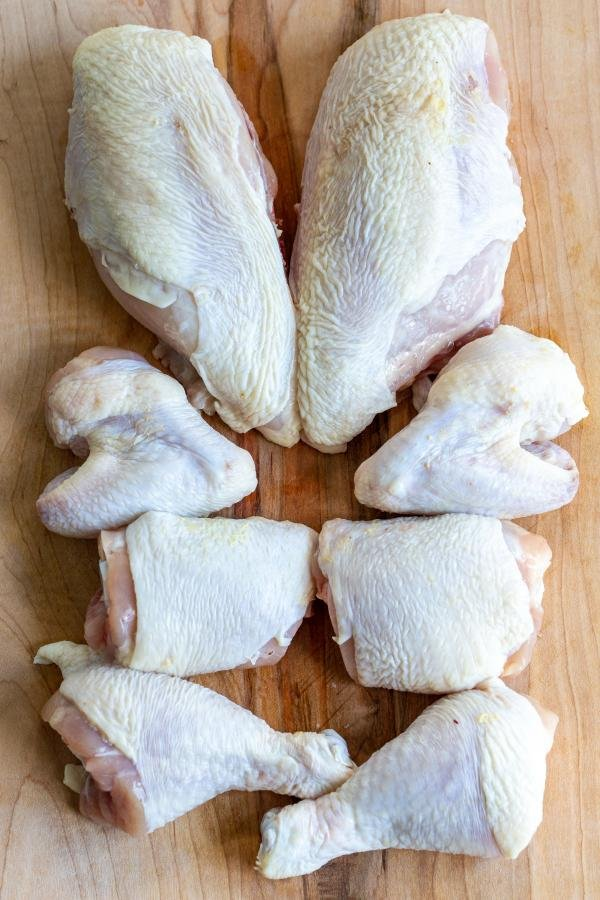 whole chicken cut up