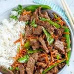 Beef Stir Fry Recipe in a dish