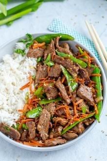 Beef Stir Fry Recipe in a dish
