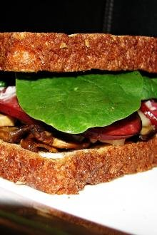 Whole Wheat Mushroom Sandwich