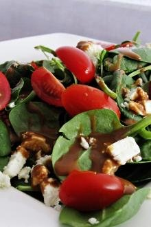 Asian Toasted Spinach Salad