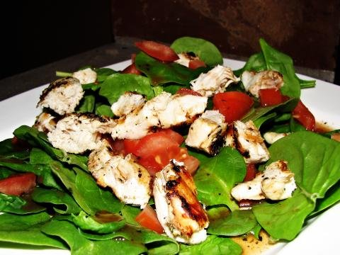 Spinach Balsamic Salad on a plate