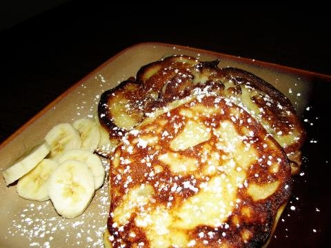 Banana Oladi Pancakes on a plate ready to be served