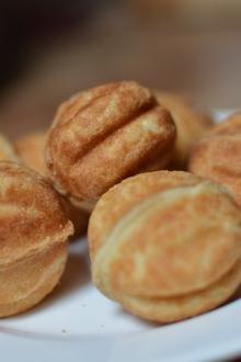 Russian walnut cookies on plate