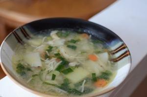 Fresh Garden Soup in a bowl