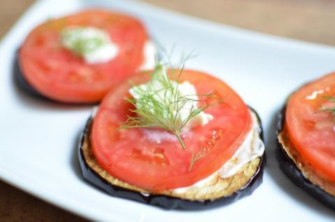 Eggplant appetizer on a plate
