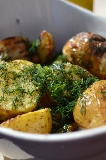 Grilled Potatoes in a bowl