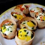 Egg Tortilla Cakes on a plate