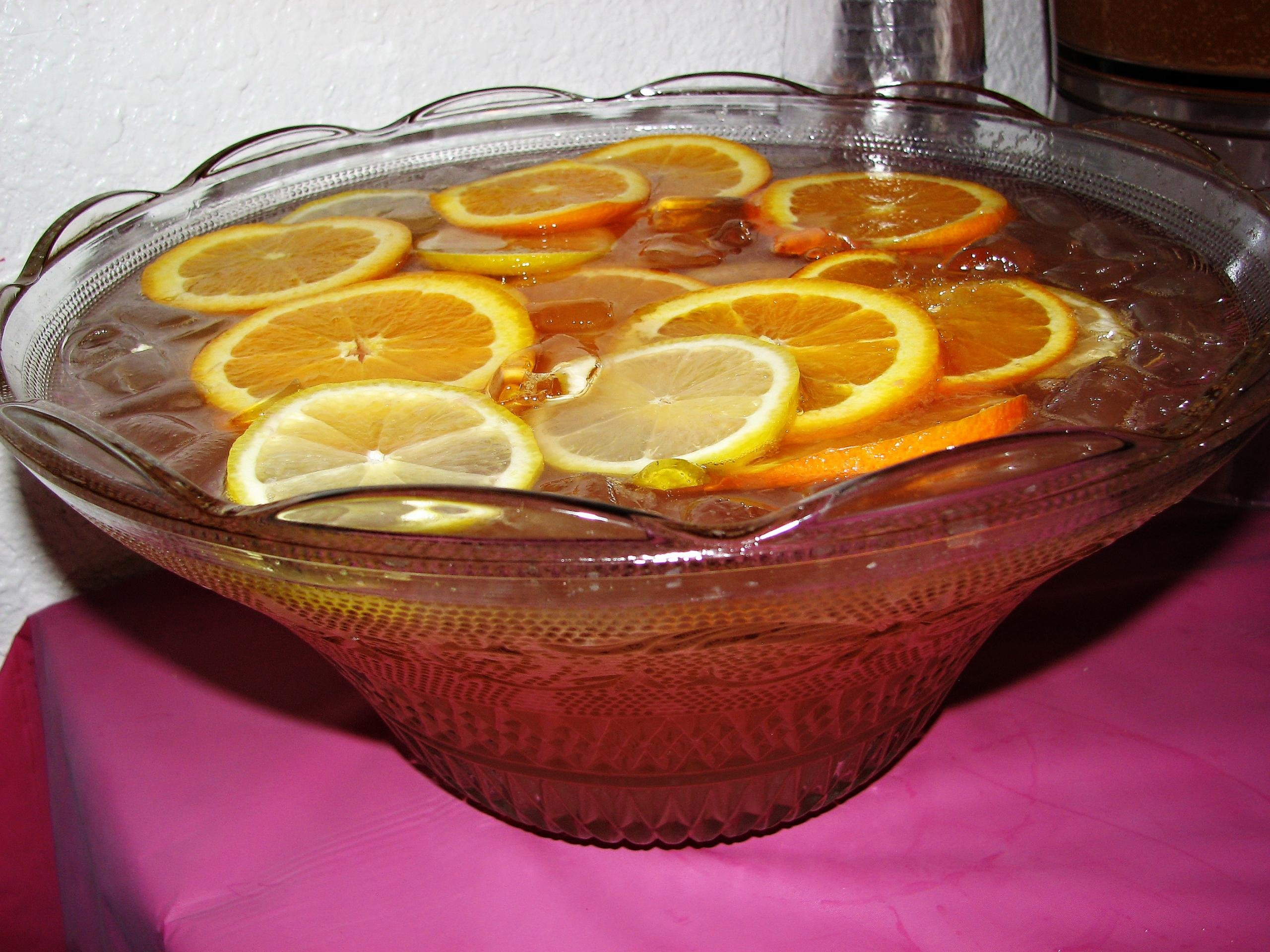 Sparkling Punch in a serving bowl on a table