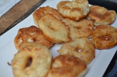 Moroccan Donuts fried and tossed in sugar on a plate