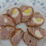 Sliced Meat Roulade on a plate