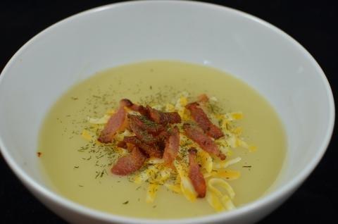 Cauliflower Potato Soup in a bowl