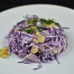 Corn and Red Cabbage Salad on a plate