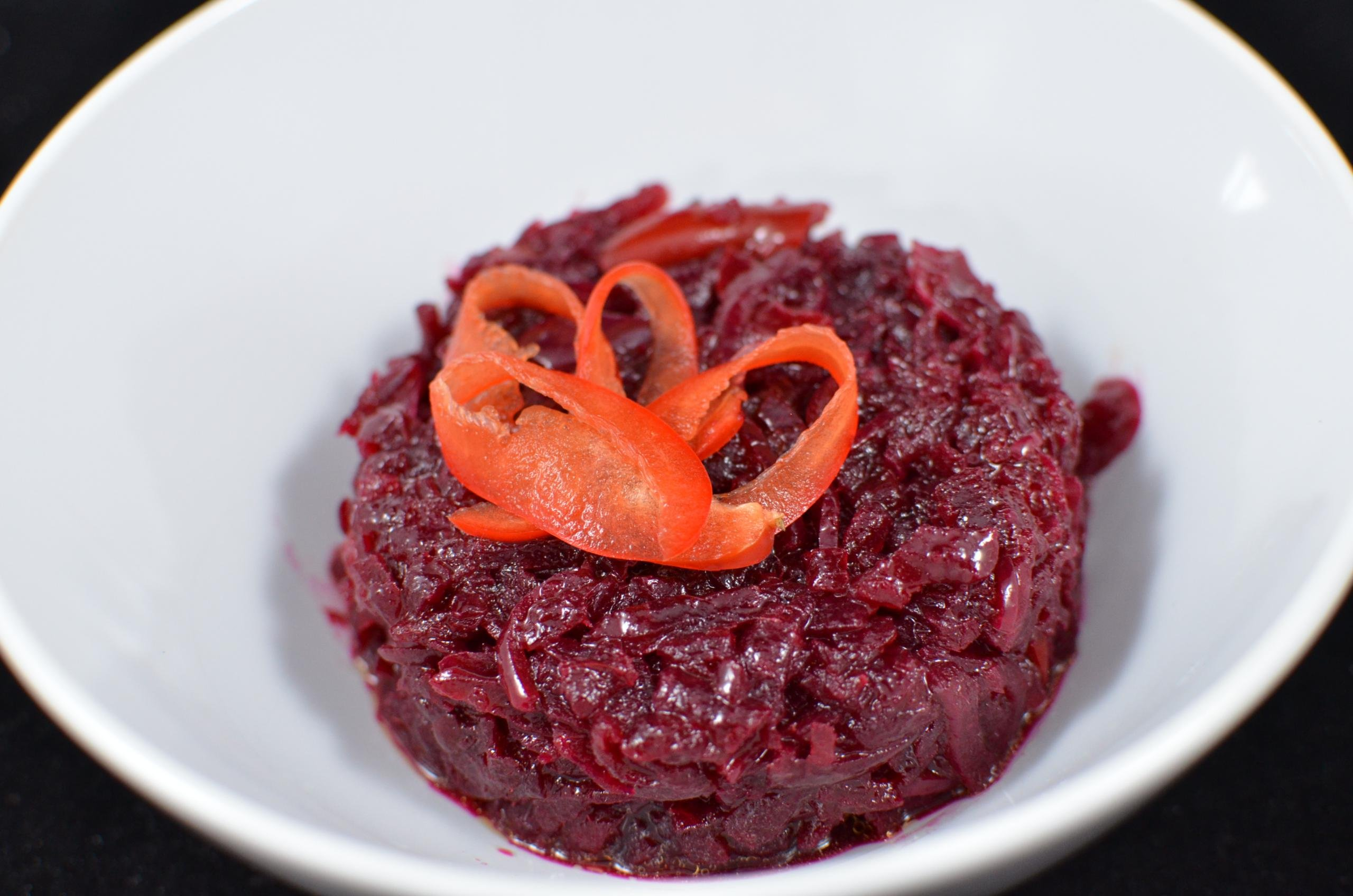 Marinated Beet Salad in a bowl
