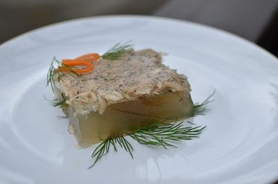 Aspic on a plate