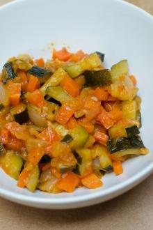 Sautéed Zucchini Salad in a bowl