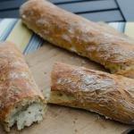 No Knead Bread-long loaf