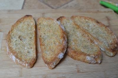 Toasted pieces of bread