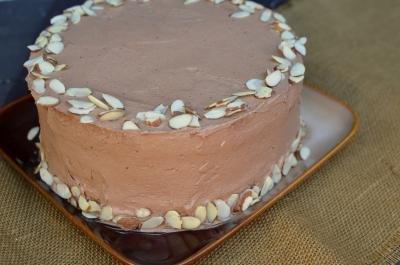 Kiev Cake on a plate