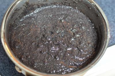 Poppy Seeds in a saucepan whisked with sugar, margarine and milk