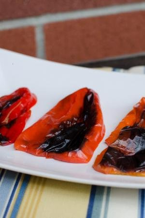 Roasted Bell Peppers on plate