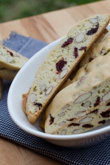 Cranberry Almond Biscotti in a bowl