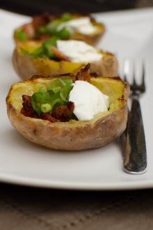 Easy Potato Skins on a plate