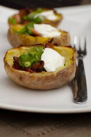 Easy Potato Skins on a plate