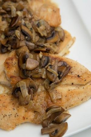 Chicken Mushroom Marsala on a plate