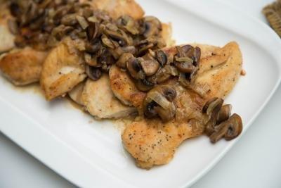 Chicken Mushroom Marsala on a plate