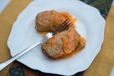 Cabbage Rolls in a plate