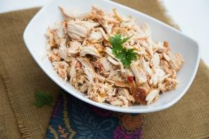 Mexican Crock Pot Chicken in a bowl