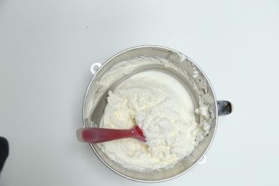 A whipped mixture of whipped cream and sugar