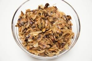 sautéed onions and mushrooms in a bowl