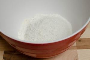 Sugar, salt and flour in a bowl