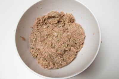 Beef Kofte Kebab mixture in a bowl