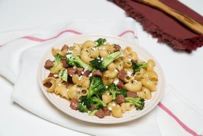 Feta Veggie Pasta on a plate