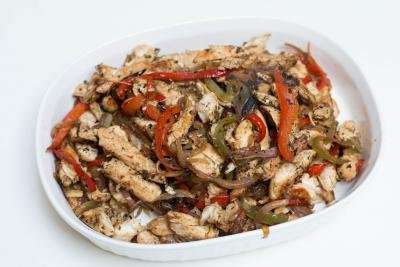 Chicken Fajitas in a pan