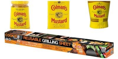 Colman's Mustard and Cookina grilling sheet