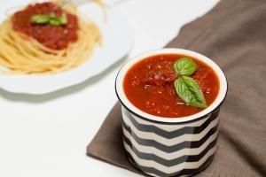 Marinara Sauce in a small bowl