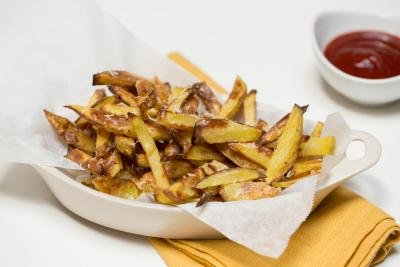 Crispy Baked Fries in a boat