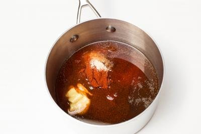 All ingredients placed into one pot