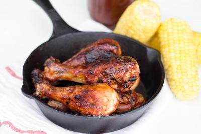 BBQ Chicken in cast iron