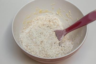 Oatmeal added to the batter mixture